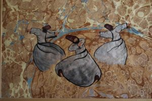 ebru painting picture